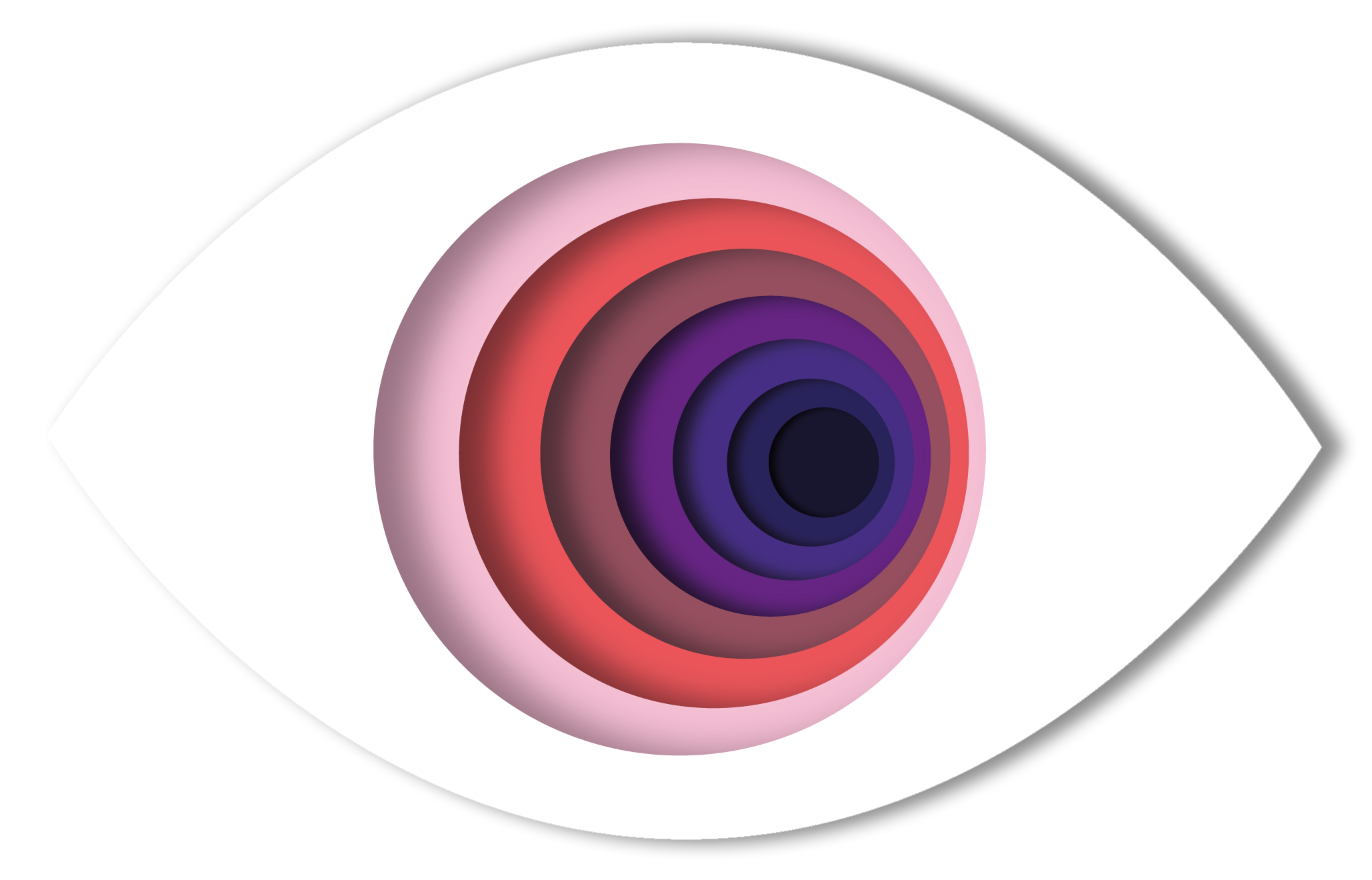 Curious Festival branding element: Eye